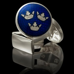 blå silver trekornor