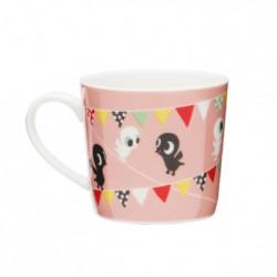 Porcelian mugg Fåglar - Pink