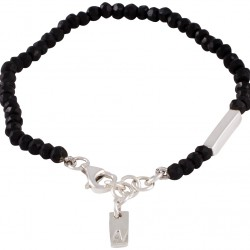 Armband silver med svart onyx