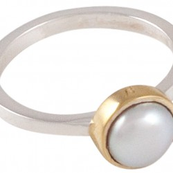 LAVENDEL - ring vit sötvattenpärla