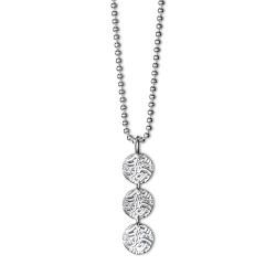 3-SHIELD SILVER 1,200 kr   Produktbeskrivning Halsband i sterling silver. Kullänk 2,0 mm i sterling silver, längd 80 cm.