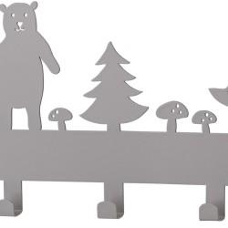 Bloomingville Klädhängare Skog är en fin inredningsdetalj dekorerad med skogsmotiv och passar lika bra i hallen som i barnrummet. Med sina fem krokar har klädhängaren plats för alla barnens jackor, overaller och andra ytterkläder. 449:-