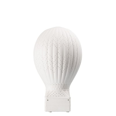 Vit porslinslampa  18X18X30 599:-TABLE LAMP BALLOON 18X18X30